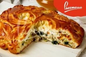Пирог с индейкой и сыром моцарелла